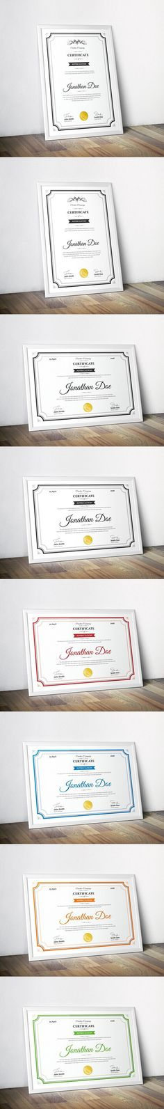 Clean Certificate Template. Stationery Templates