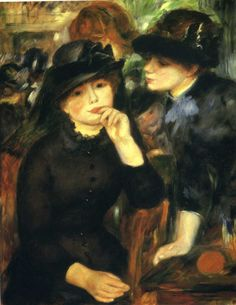 Two girls in black by Pierre-Auguste Renoir Size: 80x65 cm Medium: oil on canvas