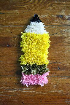 Puffy Tissue Paper Pencil craft