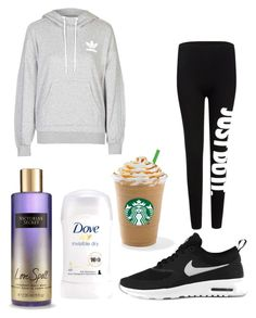 """""""Untitled #9044"""" by ohnadine on Polyvore featuring adidas, NIKE and Victoria's Secret"""