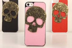 DIY Personalized Handmade Punk Studded Case for iPhone - Floral iPhone 4/4S Case - Stud iPhone 5 Case #stud #studded #diy #etsy #iphone #craft #case #accessory
