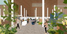 Coliving: Arca de NOE - Nuevas maneras de habitar. on Behance Behance, Candles, Architecture, Garden, Illustration, Decks, Buildings, Arquitetura, Garten