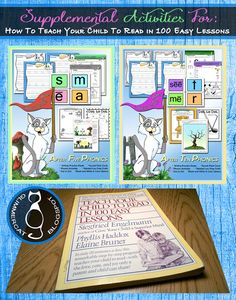 "Includes links to free supplemental worksheets for the ""Teach Your Child to Read in 100 Easy Lessons"" reading program!  Homeschool help!"