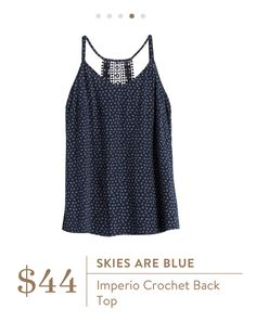 Skies Are Blue: Imperio Crochet Back Top Status: Kept