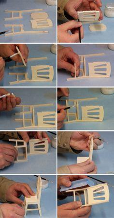 Fabrication d'une chaise miniature Minicrea