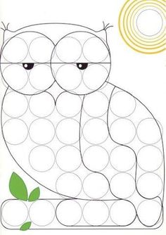 dlja mosaiki - Aleiga V. Coloring For Kids, Coloring Pages, Toddler Arts And Crafts, Preschool Art Activities, Do A Dot, Bottle Cap Crafts, Classroom Crafts, Halloween Crafts For Kids, Dot Painting