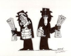 Attacker , original illustration for The Inner Man (a series of editorial cartoons done for various publications including the Village Voice and Oui Magazine in the 1970's.)   R. Michelson Galleries
