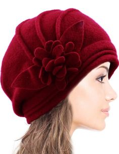 45a7a3c0ce4eb6 Dahlia Women's Elegant Flower Wool Cloche Bucket Slouch Hat - Light Gray at  Amazon Women's Clothing