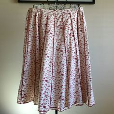 A-LINE Skirt by April Cornell.. RESERVED NWT Songbird Ladies Skirt, Size L. All measurements are laid flat- waist 16.5 inches, 26 inches long. 100 Cotton. Made in India.  April Cornell Skirts A-Line or Full