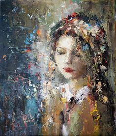 """Julia Klimova - """"Quiet Song"""" 36x30 [SOLD]"""