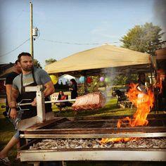Une côte de boeuf cest toujours bon! #mechoui #bbq #beef #fire