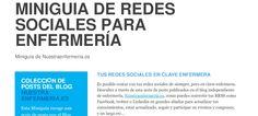 MINIGUIA DE REDES SOCIALES PARA ENFERMERÍA - Nuestra Enfermería