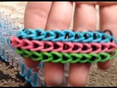 ▶ How to make a triple single rainbow loom bracelet - YouTube.  $3 on Etsy.