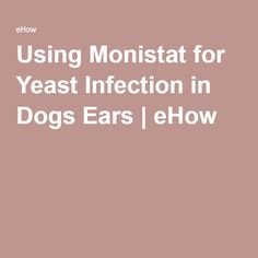 Using Monistat for Yeast Infection in Dogs Ears | eHow