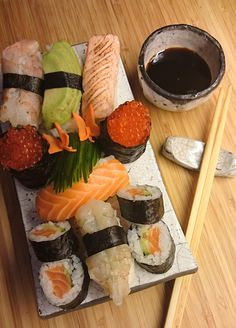 Sushi. The rice came out perfect this time. [Homemade] #food #foodporn #recipe #cooking #recipes #foodie #healthy #cook #health #yummy #delicious
