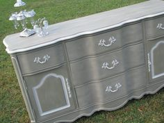 Shabby Chic Furniture Buffet Painted by ShabbyVintageNmore on Etsy, $350.00