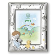 Beautiful gift for your son!! Children silver frame