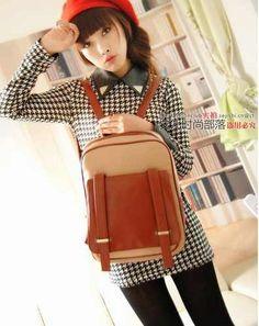 meily city- linda mochila estilo coreano de 2 colores -lm251