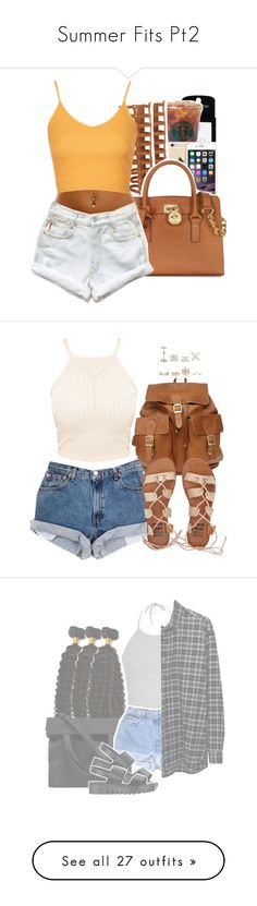 """""""Summer Fits Pt2"""" by uniquee-beauty ❤ liked on Polyvore featuring Topshop, Michael Kors, Levi's, Billabong, New Look, Loren Stewart, Ally Fashion, Alexander Wang, 6397 and Jeffrey Campbell"""