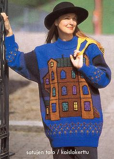 SATUJEN TALO Intarsia Knitting, Cool Sweaters, 3, Knit Crochet, Graphic Sweatshirt, Decor Ideas, Sweatshirts, House, Design
