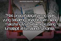 """Visit mcmtagalogquotes.tumblr.com for more tagalog quotes and love quotes tagalog  tagalog quotes:""""Mas pinapahalagahan ng lalaki yung babaeng pinaghirapan nilang makuha kaysa babaeng kusang lumalapit at lumalandi sa kanila."""" Tagalog Love Quotes, Qoutes, Life Quotes, Hugot, Funny Jokes, Tumblr, Eye, My Love, Words"""