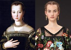Valentino's Italian Renaissance Braid Inspiration – Vogue I love how he connected art and fashion and as well as putting a spin and his own flavor on the design. Renaissance Fashion, Italian Renaissance, Hipster Fashion, Vintage Fashion, Vintage Style, Valentino Resort, Italian Fashion Designers, Glamour Shots, Haute Couture Fashion