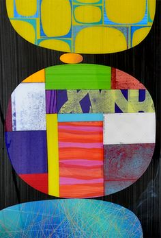 Rex Ray new composition using collages painted papers