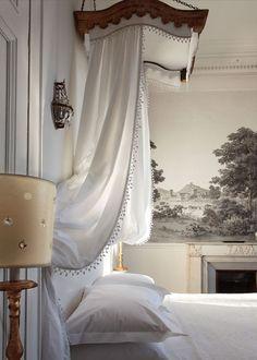 'L Hotel Particulier, Arles, France Dream Bedroom, Home Bedroom, Master Bedroom, Bedroom Decor, Canopy Bedroom, Door Canopy, Canopy Tent, Ikea Canopy, White Bedrooms