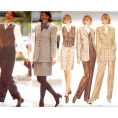 Butterick Sewing Pattern 4207 Misses' /Misses' Petite Jacket, Vest, Skirt, Pants Size: 6-8-10 12 Uncut