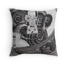 DJ #pillow #art #iblackwork #onlyblak #black&white #dj #djing #music #style #homedecor