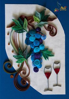 Neli is a talented quilling artist from Bulgaria. Her unique quilling cards bring joy to people around the world. Big Paper Flowers, Paper Quilling Flowers, Neli Quilling, Quilling Cards, Toilet Roll Art, Quilling Designs, Button Crafts, Diy Cards, Paper Art