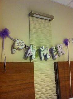 Kelebek isim banner, kapı süsü, hastane odası, doğum süslemeleri, bebek doğum hastane süslemesi