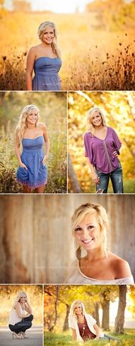 Senior Girl - love the warm colors in this...