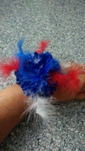July 4th Fascinator or wrist corsage