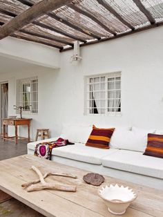 A NATURAL STYLE SUMMER HOME ON IBIZA | need the bamboo for our overhang