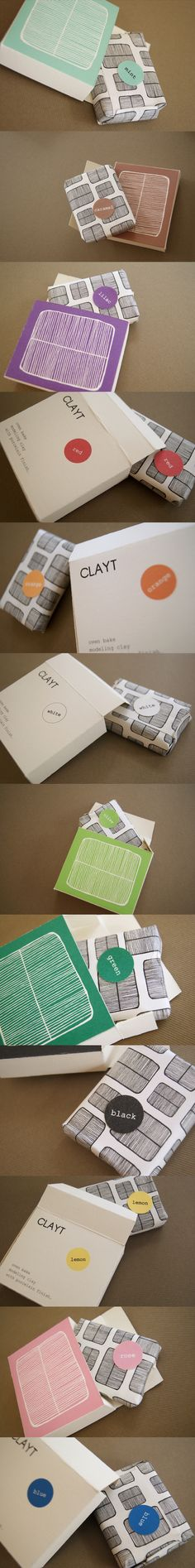 Clay Packaging by Anna Trympali, via Behance. take a simple product and put it in an awesome package PD
