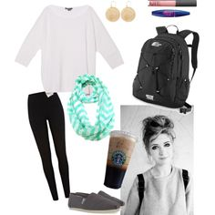 Easy Fall School Outfit, created by virginiaprep on Polyvore