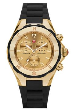 MICHELE 'Tahitian Jelly Bean' 40mm Gold Watch available at #Nordstrom.   Saving up for this, since I can't wear my white one in winter!