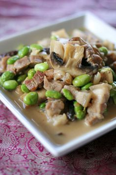Eat bulaga mobile pinoy henyo yy pinterest eat bulaga pork shiitake and edamame in coconut cream sauce served with sauteed bok choy forumfinder Image collections