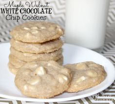 "I love these ""almost homemade"" Maple Walnut White Chocolate Chip Cookies!  They taste like a gourmet cookie without the fuss!   Sometimes I just don't have time to make things from scratch, but you would never know that half of this recipe is from a cookie mix!  Just add a few extra ingredients for a… Read More"