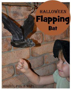 Halloween Flapping Bat Craft | Wildlife Fun 4 Kids- So cool!