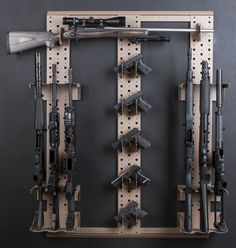 Expandable weapons storage and Gun rack, Armory weapons storage and walk in gun rooms. Weapon Storage, Gun Storage, Storage Rack, Airsoft Storage, Gun Safe Room, Gun Closet, Gun Vault, Hidden Gun, Gun Rooms
