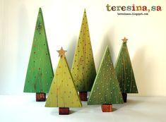 Tutorial arboles de navidad en madera - Teresina, s.a. Creative Power