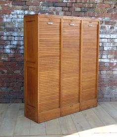 Triple Industrial Tambour Front Cabinet