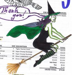 A very polite witch in stripey socks, by Rosalind,