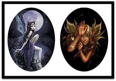 Pretty Fairies  Digital Collage Sheet  by DesignsByShellyAnn
