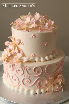 Light Pink & Ivory #64Classic by Michael Angelo's Bakery | Michael Angelo's Bakery