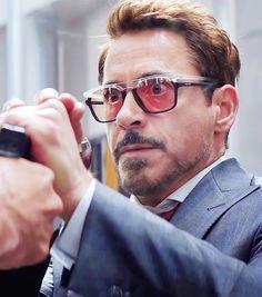 Tony Stark as Robert Downey Jr. ( because of the glasses)In Civil War