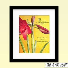 Printable wall art decor: Floral stylized photography, Amaryllis, flower art, Inspirational, motivational, close up, yellow with texture  by TheFlyingHearts, $5.00