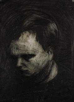Frank Auerbach (British, b. 1931), Head of Leon Kossoff, 1956. Charcoal and chalk on paper, 76 x 56cm.